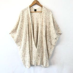 David & Young Open Front Cardigan Confetti Color